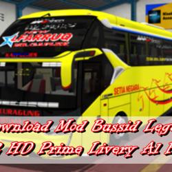 Download Mod Bussid Legacy SR2 HD Prime Livery Al Faruq